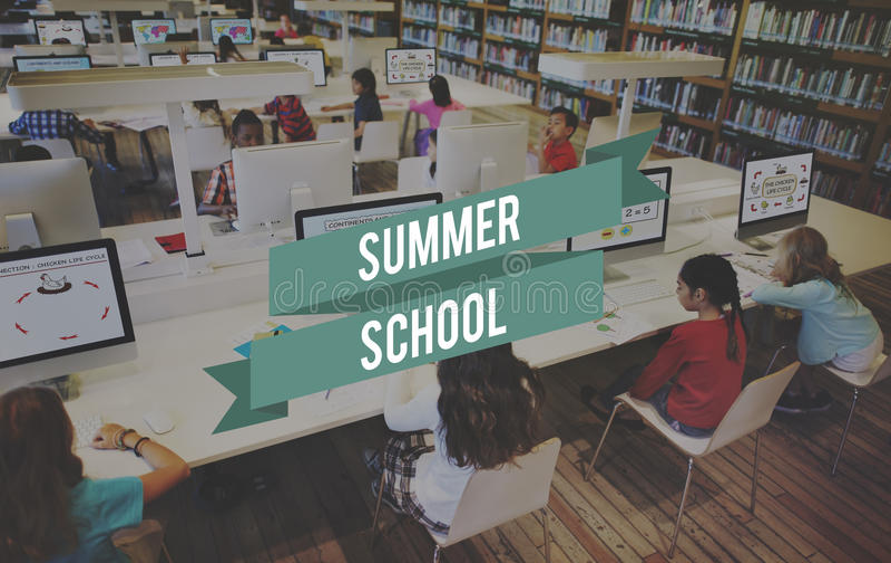 Studente Study Concept di istruzione dei corsi estivi fotografia stock
