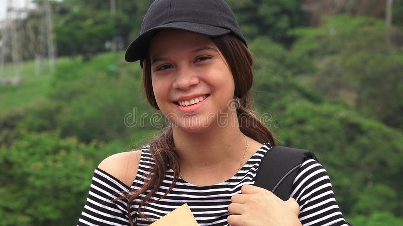Studente teenager femminile felice fotografia stock