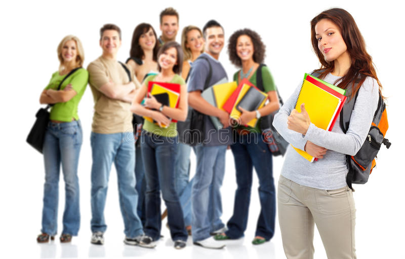 Studenten stock afbeelding