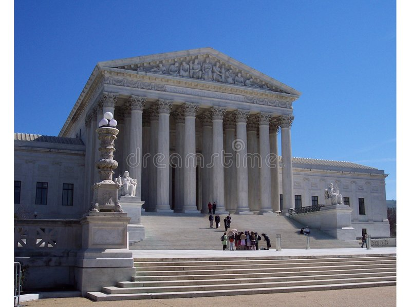 Studenten Bij Het Hooggerechtshof Stock Foto