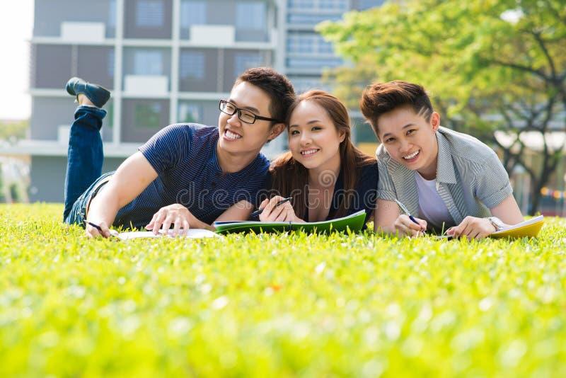 Moderne studenten royalty-vrije stock fotografie