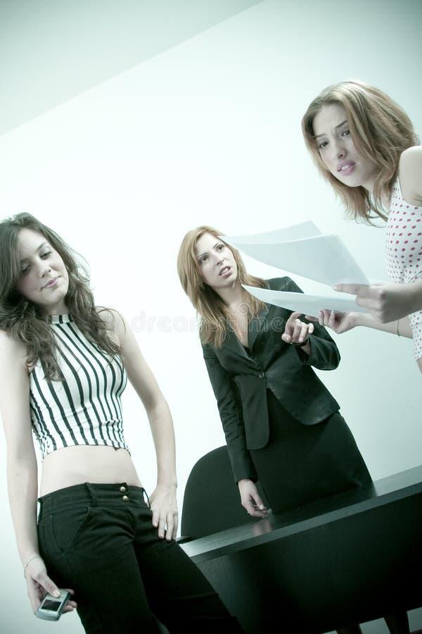 Studenten en leraar stock fotografie