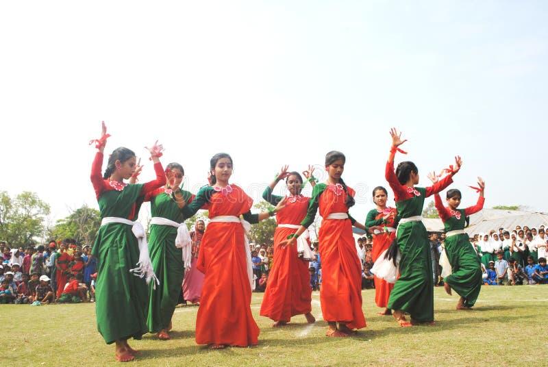 Studenten in festival stock afbeelding