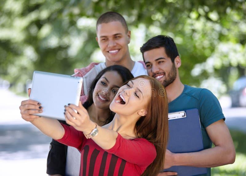 Studenten selfie lizenzfreies stockfoto