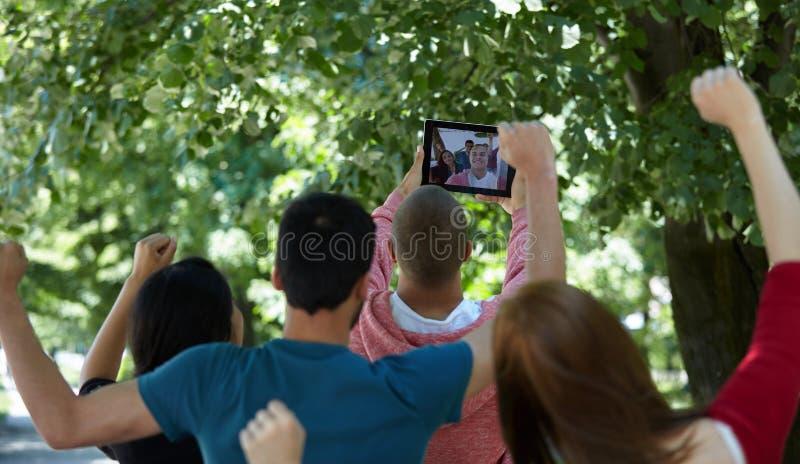 Studenten selfie stockfotografie