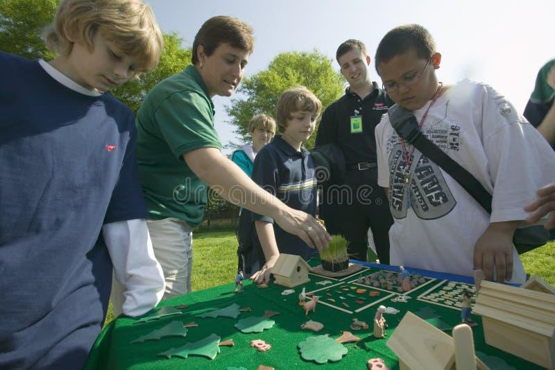 ?Studenten van de Kracht van de Aarde ''? stock foto