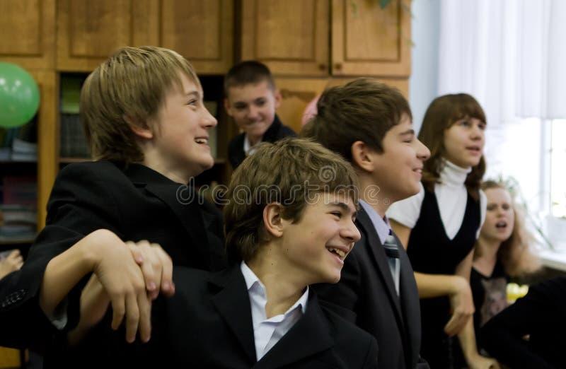 Studenten van Lyceum stock foto
