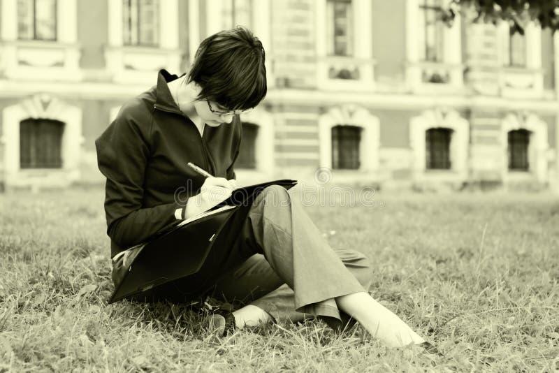 Studentenmädchen lizenzfreies stockfoto