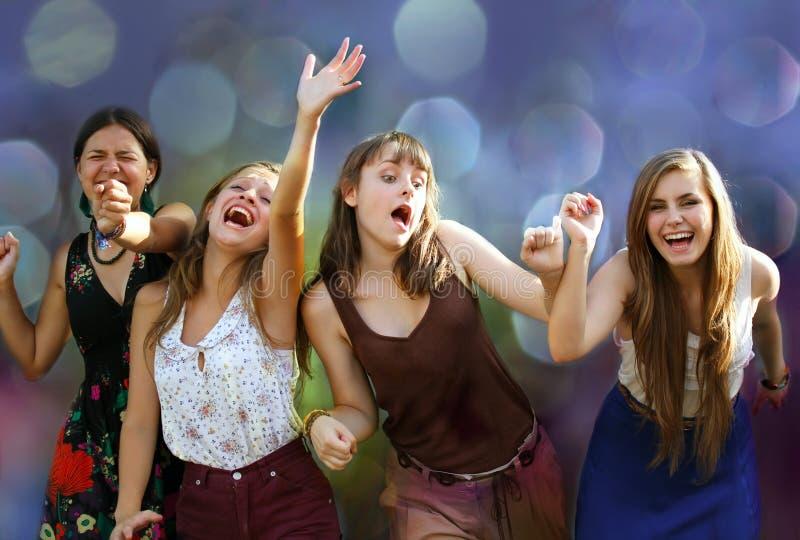 Studentenmeisjes stock fotografie