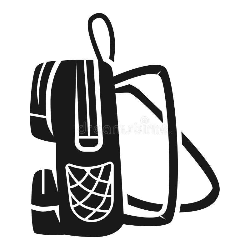 Studentenrucksack-Seitenikone, einfache Art stock abbildung