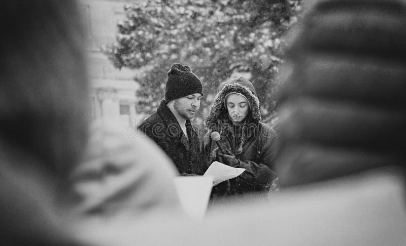 Studententoespraak - Maart voor Ons Leven royalty-vrije stock afbeelding