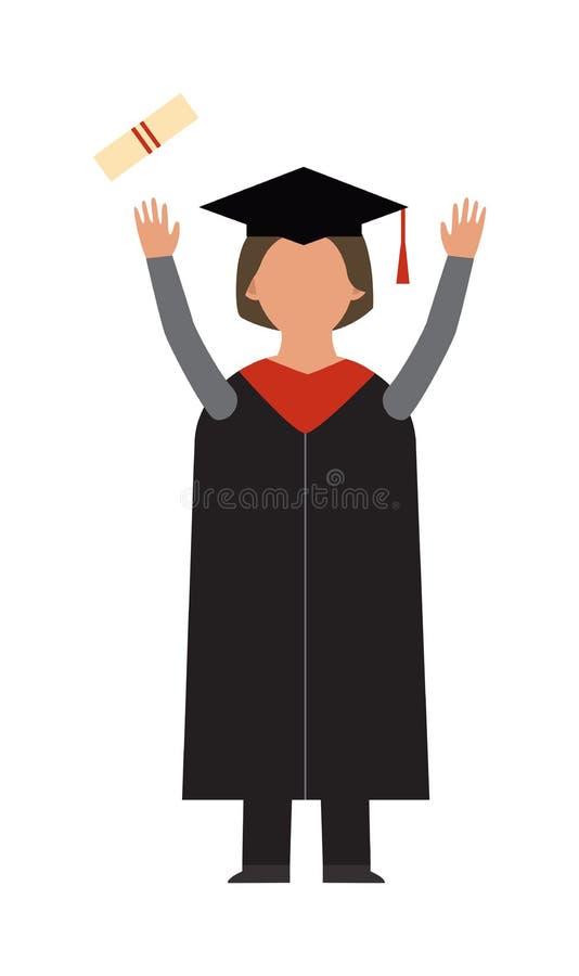 Studentenwissensschul- oder -hochschul- oder -collegesinfographic Konzept der Staffelungsvektorbildungsleute erfolgreiches stock abbildung