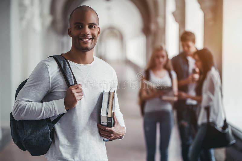 Studenter i universitet royaltyfri foto
