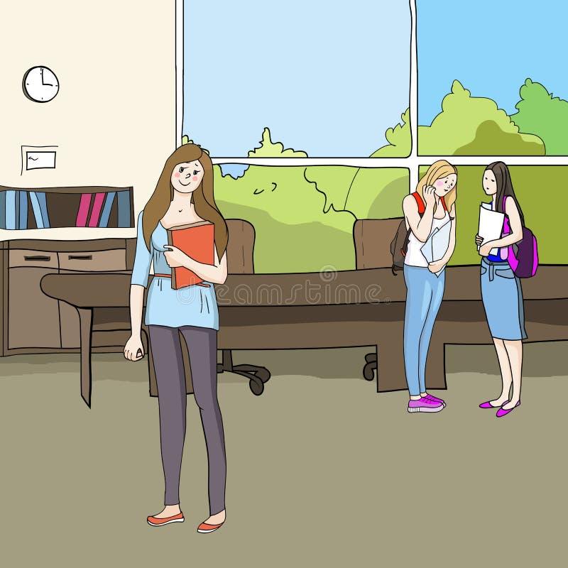 Studenter och utbildning royaltyfri illustrationer