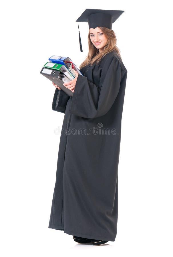 Studentessa laureata immagini stock libere da diritti