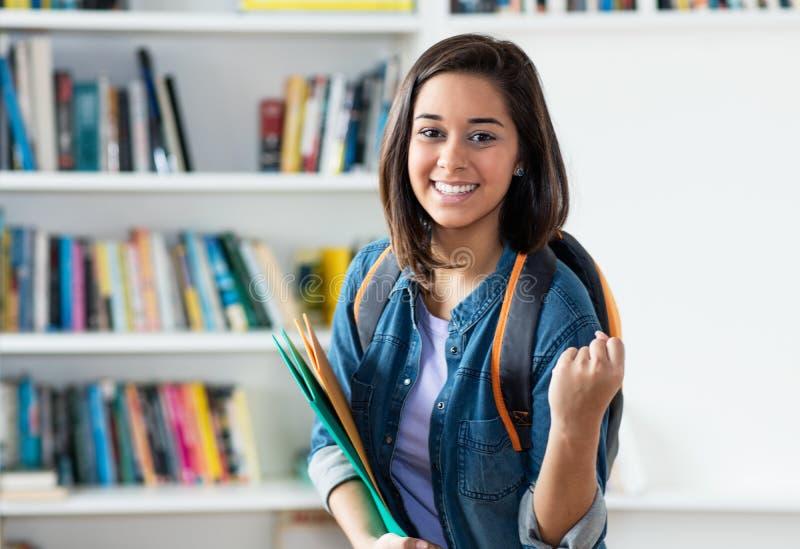 Studentessa spagnola incoraggiante immagini stock
