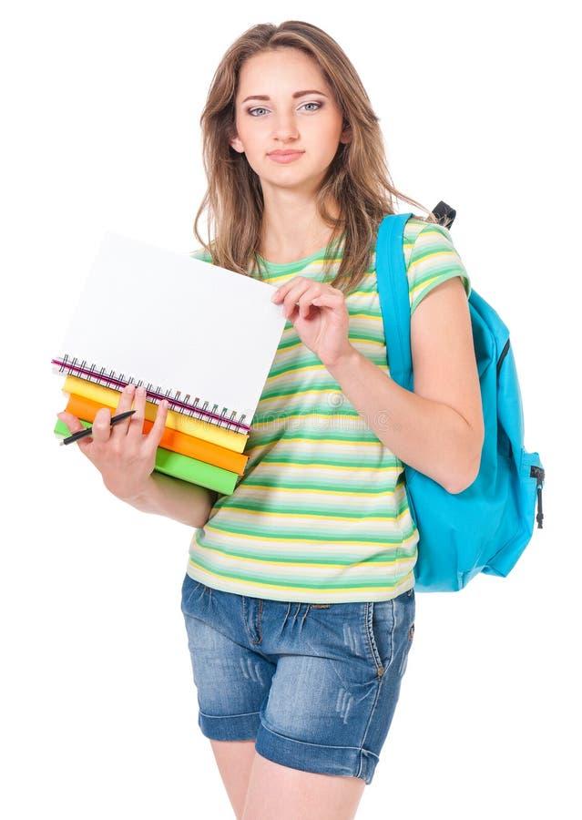 Studentessa teenager immagine stock