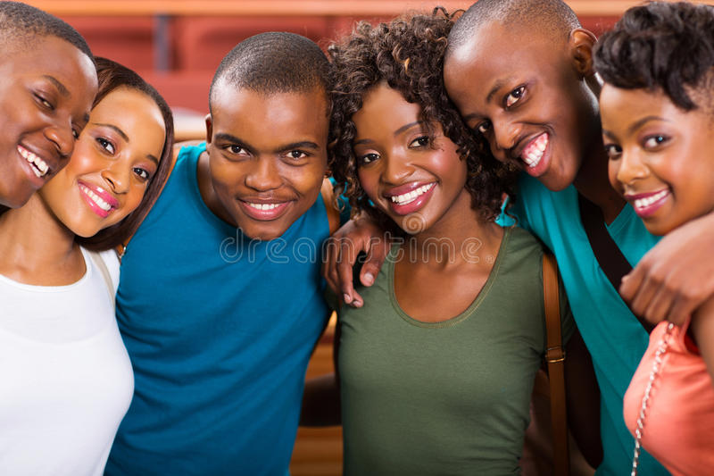 Studenti afroamericani immagini stock libere da diritti