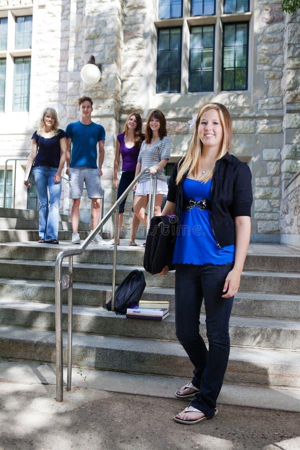 Studenti all'istituto universitario fotografia stock