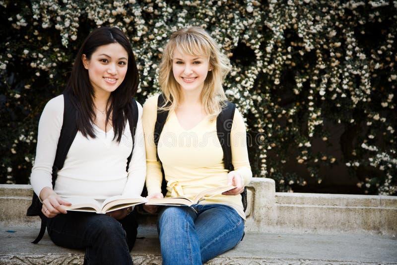 Studenti di college fotografie stock