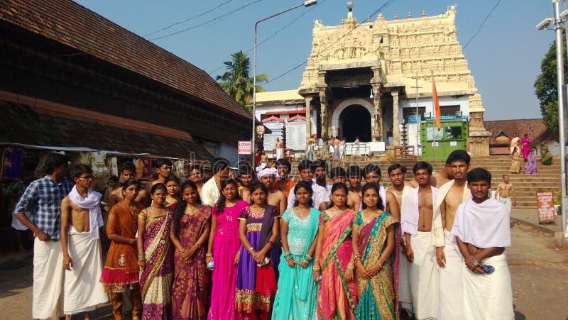 Studenti di college al tempio fotografia stock