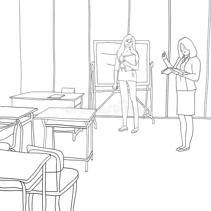 Studenti e istruzione illustrazione vettoriale