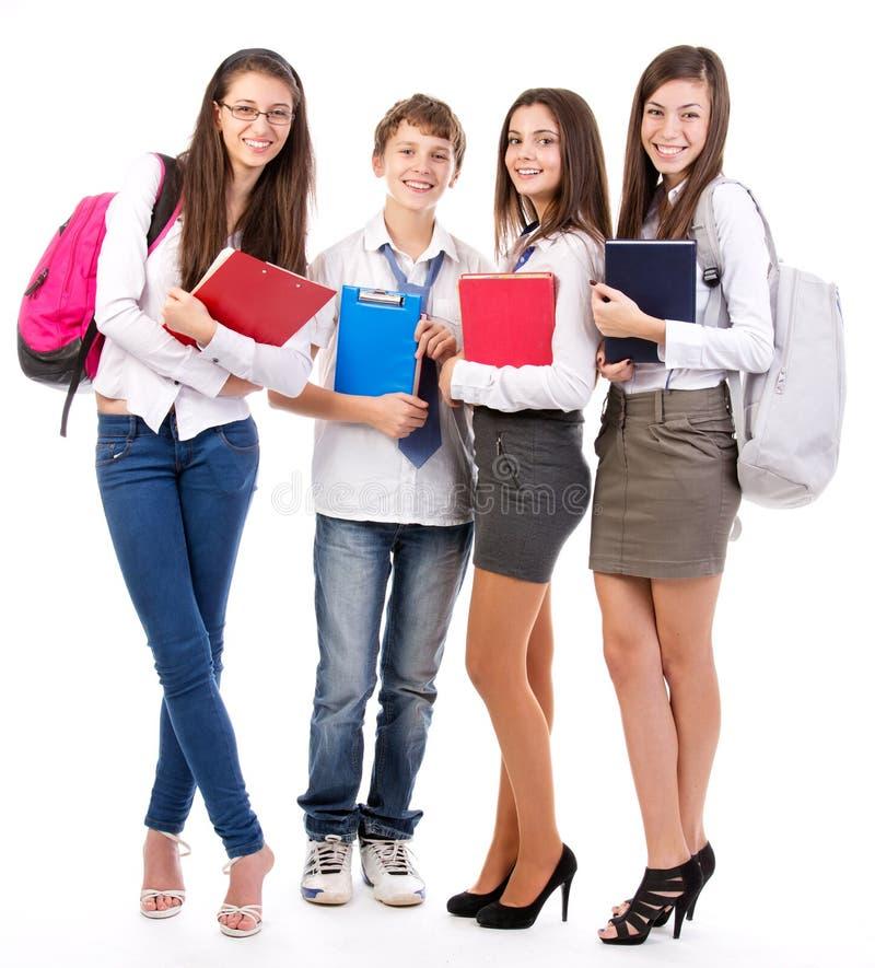 Studenti felici fotografia stock libera da diritti