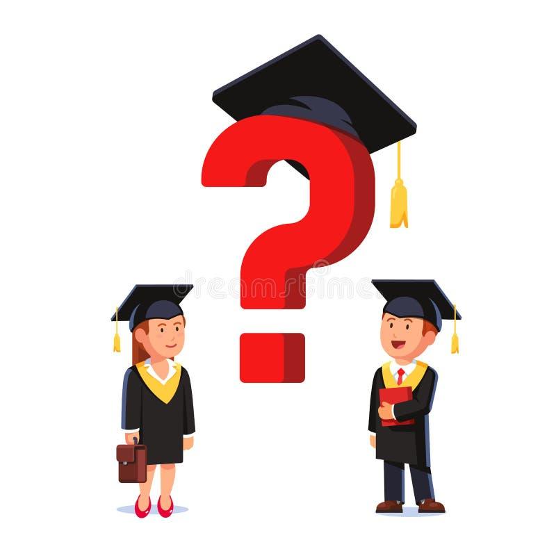 Studenti graduati della scuola di commercio di MBA royalty illustrazione gratis