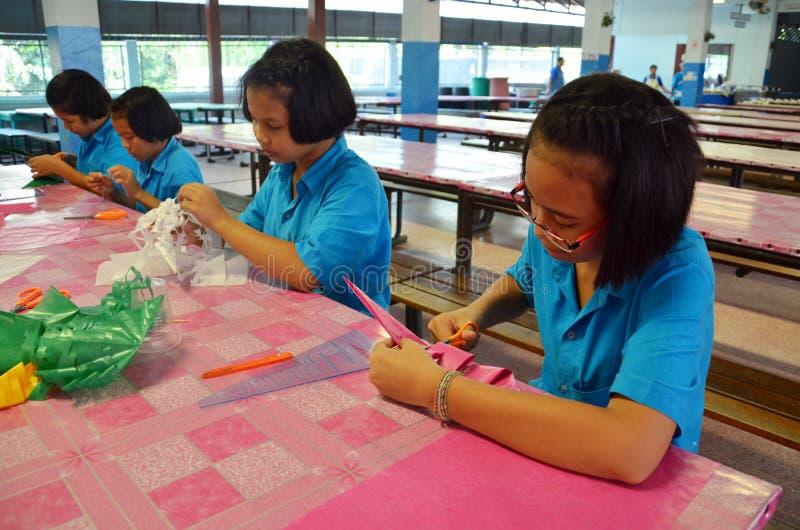Studenti in Tailandia. fotografie stock