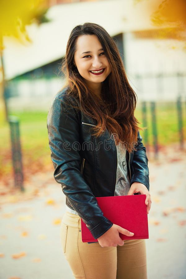 Studentin stockfotos