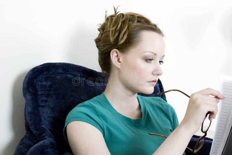 Studentin stockfoto
