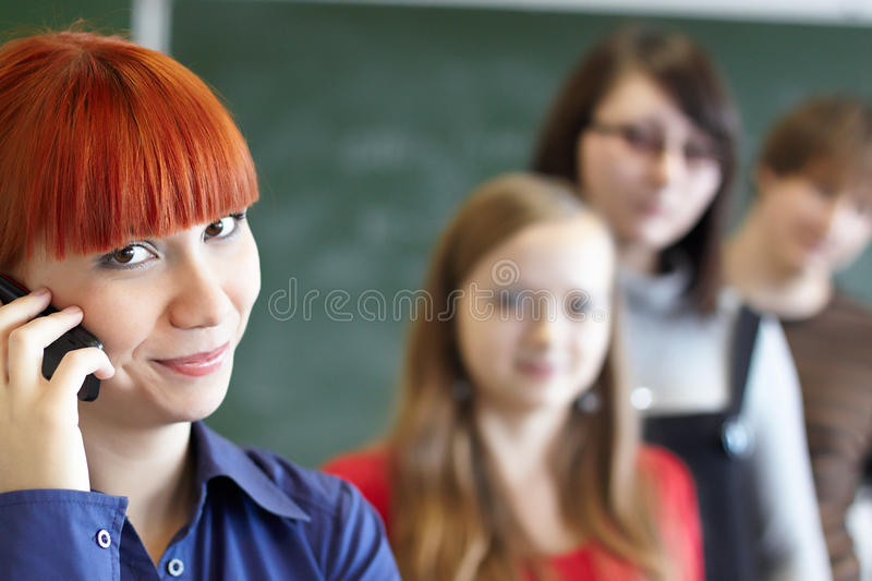 Download The students stock image. Image of lesson, female, desk - 11718399