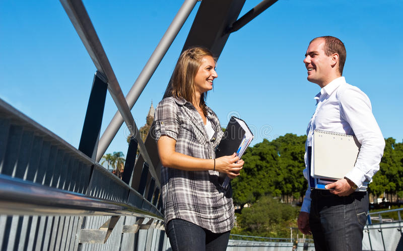 Download Students stock image. Image of bridge, holding, social - 13242319