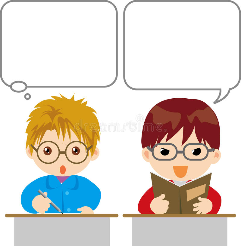 Download Students stock vector. Image of students, cartoon, reading - 16868350