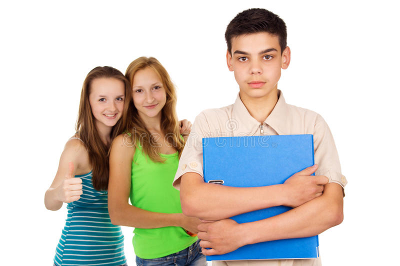 Students Boy And Girl Isolated Royalty Free Stock Photo