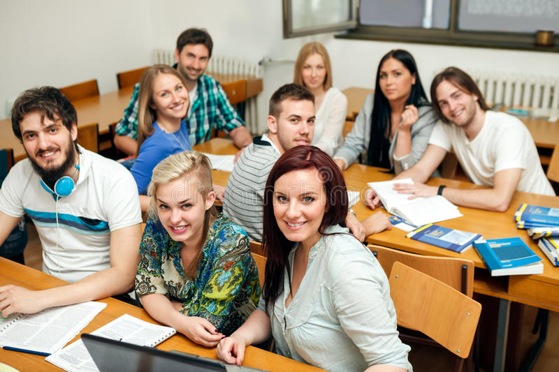 Students on class royalty free stock image