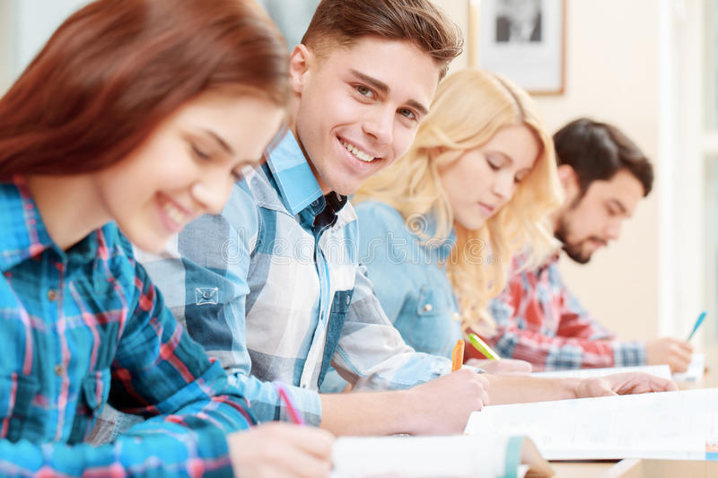Students at classes royalty free stock photos