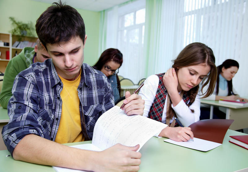 Download Students  in classroom stock photo. Image of intelligence - 24174624