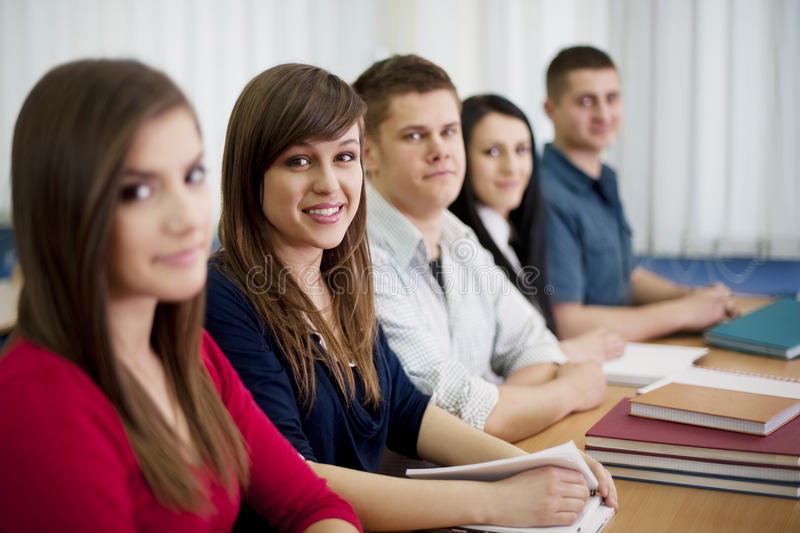 Download Students in classroom stock photo. Image of chair, hall - 29221902
