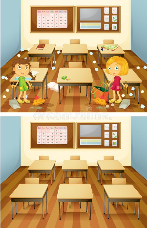 Classroom stock vector. Illustration of eraser, desks - 25874357