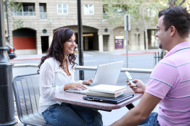 Download Students At College Studying Stock Image - Image: 9935585