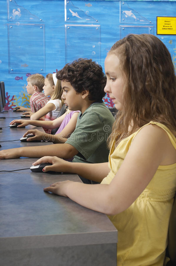 Download Students In Computer Lab stock photo. Image of desk, looking - 29662112