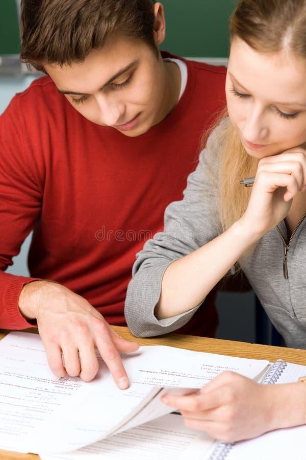 Download Students doing homework stock image. Image of school - 21956383