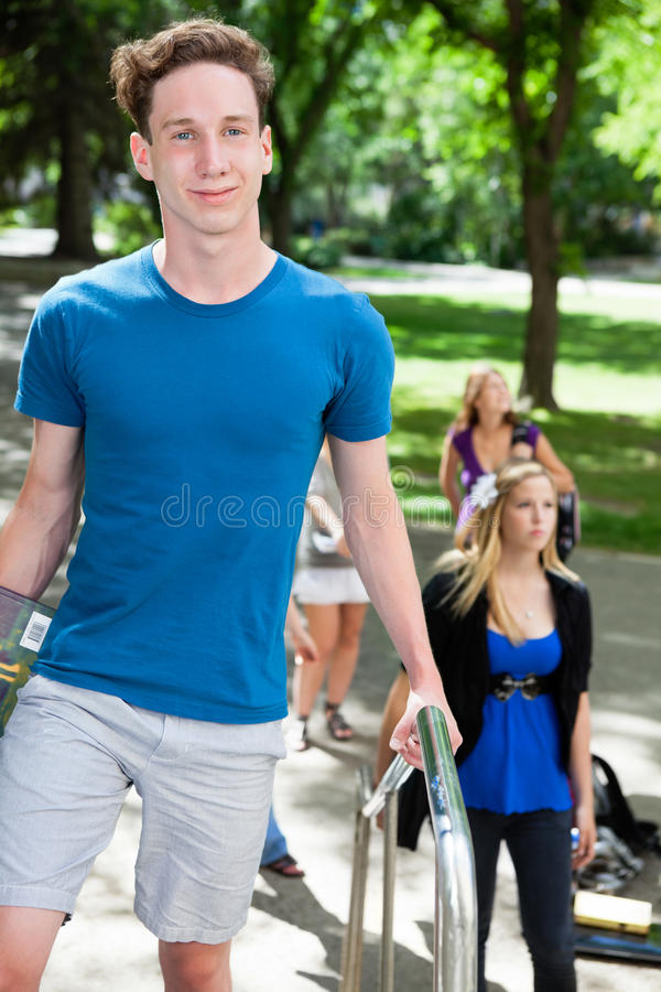 Students going to college stock photo
