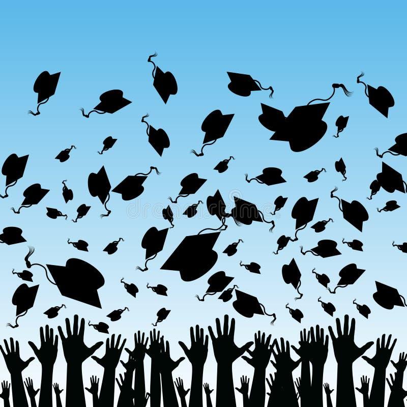 Students Graduating. An image of students graduating stock illustration