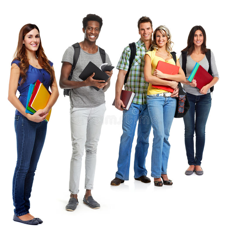 Students group. stock photos