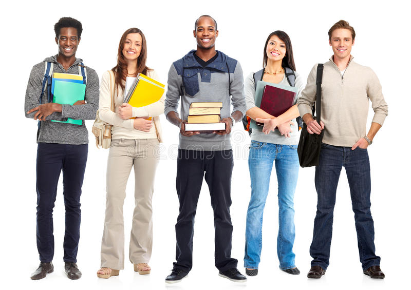 Students group. stock photo