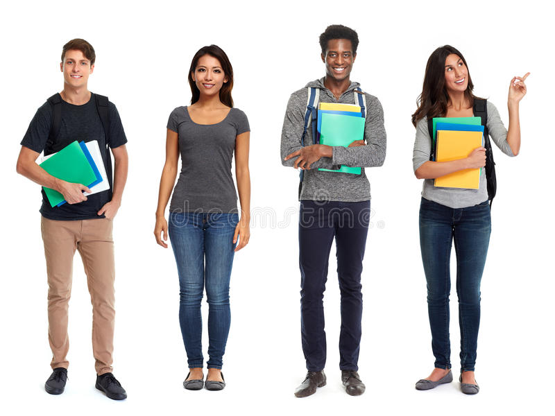 Students group. royalty free stock photography