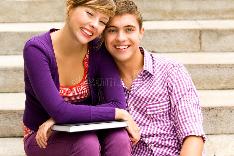 Download Students holding books stock photo. Image of book, stairs - 15978908