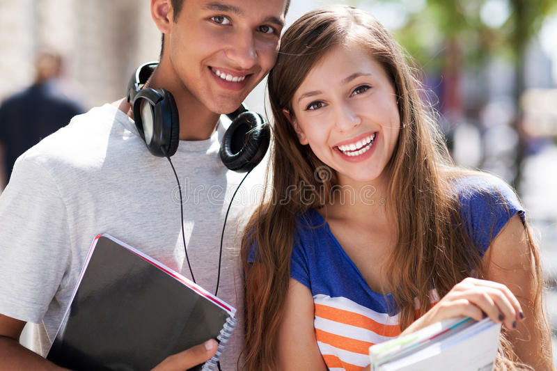 Download Students Holding Their Books Stock Image - Image: 26469331